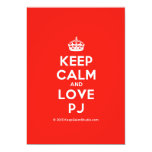 [Crown] keep calm and love pj  Invitations