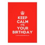 [Cupcake] keep calm its your birthday  Invitations