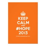 [Crown] keep calm and #hope 2013  Invitations