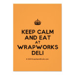 [Crown] keep calm and eat at wrapworks deli  Invitations