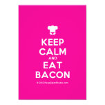 [Chef hat] keep calm and eat bacon  Invitations