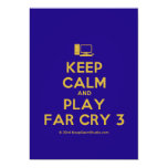 [Computer] keep calm and play far cry 3  Invitations
