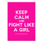 keep calm and fight like a girl  Invitations
