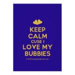 [Two hearts] keep calm cuse i love my bubbies  Invitations