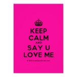 [Crown] keep calm and say u love me  Invitations