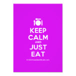 [Cutlery and plate] keep calm and just eat  Invitations