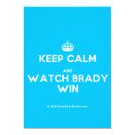 [Crown] keep calm and watch brady win  Invitations