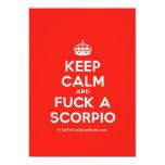 [Crown] keep calm and fuck a scorpio  Invitations