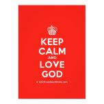 [Cupcake] keep calm and love god  Invitations