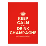 [Crown] keep calm and drink champagne  Invitations