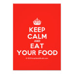 [Crown] keep calm and eat your food  Invitations