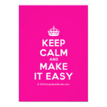 [Crown] keep calm and make it easy  Invitations