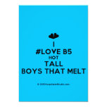 [Two hearts] i #love b5 hot tall boys that melt  Invitations