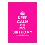 [Crown] keep calm it's my birthday  Invitations