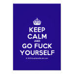 [Crown] keep calm and go fuck yourself  Invitations