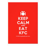[Cutlery and plate] keep calm and eat kfc  Invitations