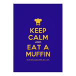 [Chef hat] keep calm and eat a muffin  Invitations
