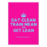 [Crown] eat clean train mean and get lean  Invitations