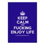 [Crown] keep calm and fucking enjoy life  Invitations