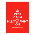 [Crown] keep calm and pillow fight on  Invitations