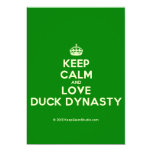 [Crown] keep calm and love duck dynasty  Invitations