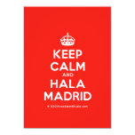 [Crown] keep calm and hala madrid  Invitations