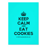 [Crown] keep calm and eat cookies  Invitations