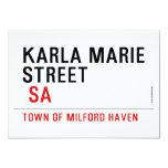 Karla marie STREET   Invitations