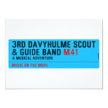3rd Davyhulme Scout & Guide Band  Invitations