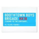 boothtown boys  brigade  Invitations