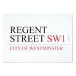 REGENT STREET  Invitations