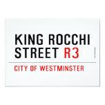 king Rocchi Street  Invitations