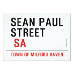 Sean paul STREET   Invitations