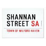 Shannan Street  Invitations