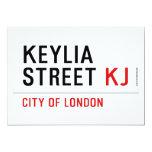 Keylia Street  Invitations