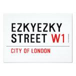 ezkyezky Street  Invitations