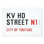 KV HD Street  Invitations