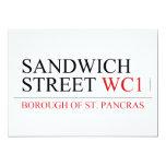 SANDWICH STREET  Invitations