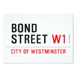 BOND STREET  Invitations