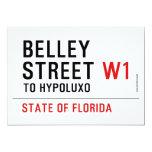 Belley Street  Invitations