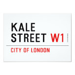 Kale Street  Invitations