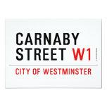 carnaby street  Invitations