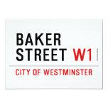 baker street  Invitations