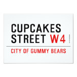 cupcakes Street  Invitations