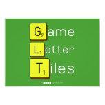 Game Letter Tiles  Invitations