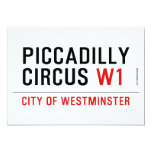 piccadilly circus  Invitations