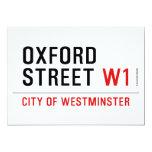 oxford street  Invitations