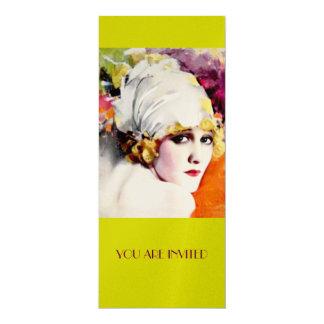 Invitations, anna nilsson on metallic gold stock 4x9.25 paper invitation card
