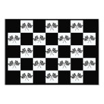 """Invitations Any Auto Racing Checkered Flags Indy 3.5"""" X 5"""" Invitation Card"""