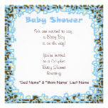 Invitations Baby Boy Baby Shower Blue Brown Cards